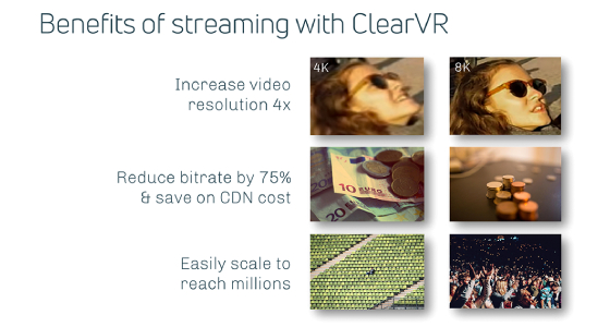 Benefits of streaming with clearVR