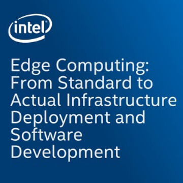 Edge Computing: from standard to actual infrastructure deployment and software development