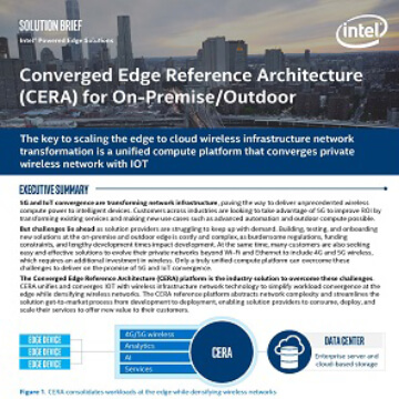 Converged Edge Reference Architecture (CERA) for On-Premise/Outdoor
